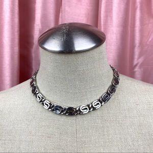 Vintage Monet Silvertone Necklace
